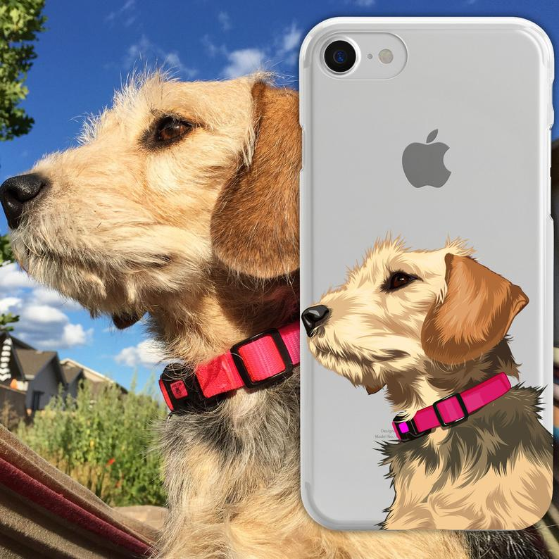 Custom Dog Illustrated Phone Case