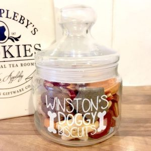Personalised Dog Biscuit Jar