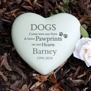 Personalised Dog Heart Memorial