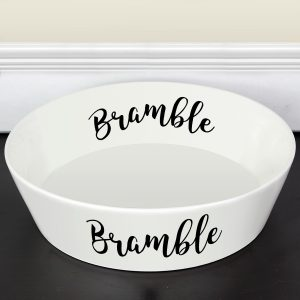 Personalised Bone China Dog Bowl Large 20 cm