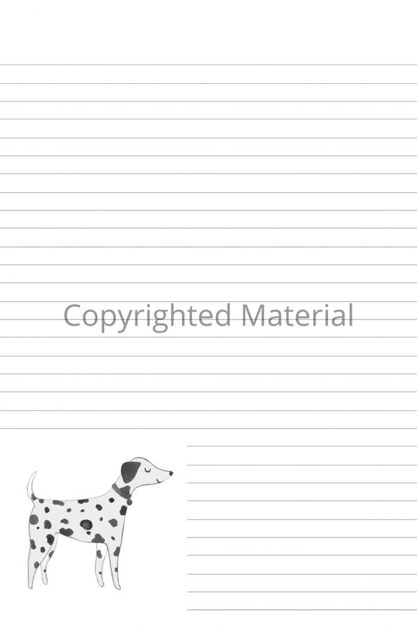 Dalmatian lined notebook interior